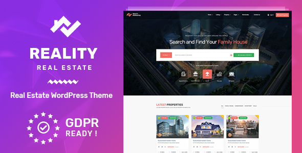 Reality : v1.0.4 – Real Estate WordPress Theme